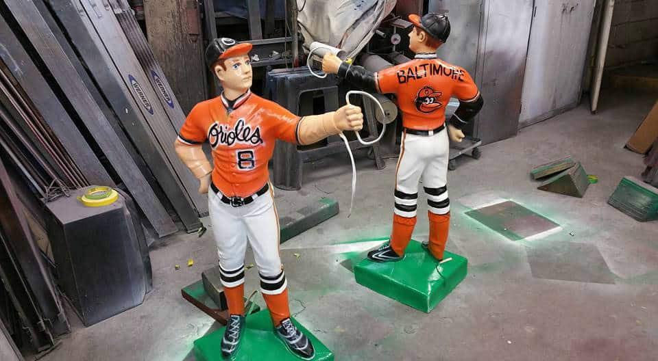 Custom Airbrush Artwork Baltimore Orioles Lawn Jockey